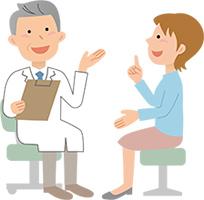 レーザー治療のカウンセリングを受ける女性